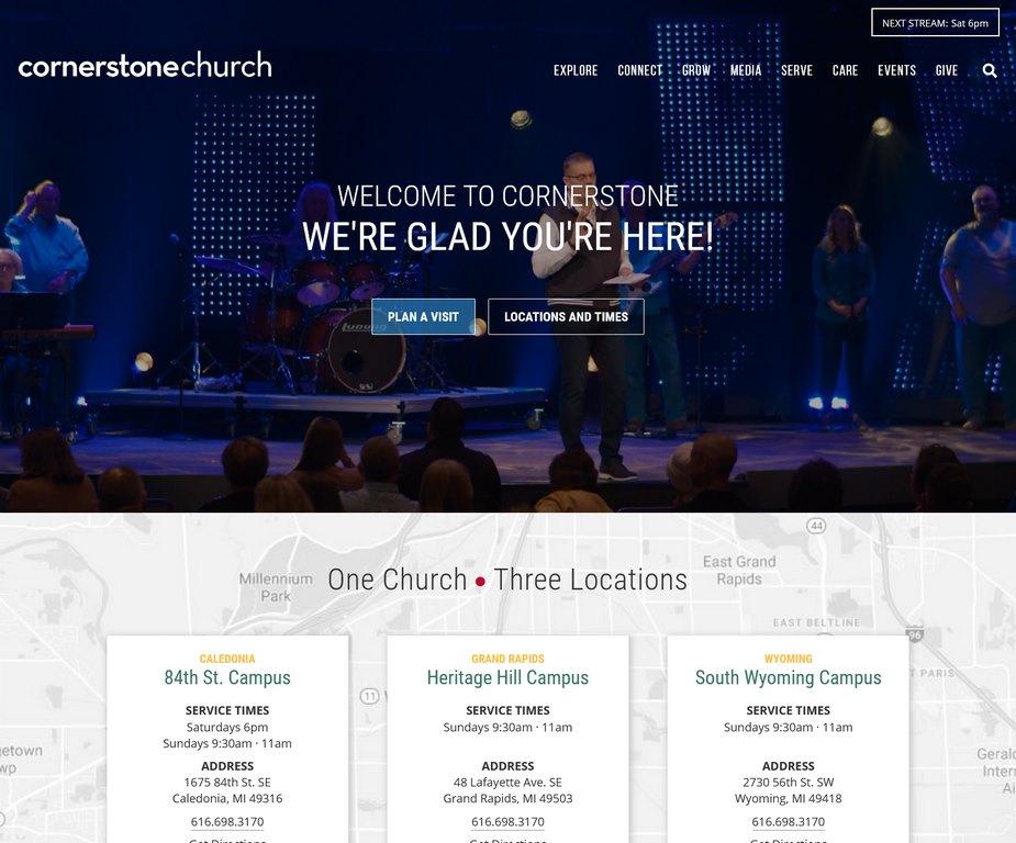 "Cornerstone Church<br><br><a href=""https://cornerstonemi.org"" target=""_blank"" rel=""noopener noreferrer"">View Site</a>"